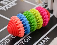 Wholesale Colorful Rubber Pet Dog Puppy Dental Teething Healthy Teeth Gums Chew Toys Tool JIA602 ZD030