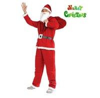 Wholesale 2016 New High Quality Christmas Clothing Five sets Non woven fabrics Relatively thin Christmas clothes complete set Cosplay clothes