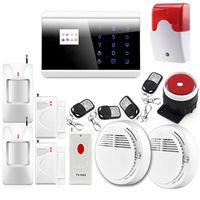 armed alert - P725 Wireless Zone GSM PSTN Home Alarm System SMS Arm Disarm Door Contct Fire Alarm Sensors Emergency Panci Alert G
