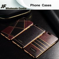 Wholesale Whosesale Skin Grain Phone Cases Electroplate Soft Back Cover For Apple iphone s plus plus Shockproof Full Protector Shell Skin