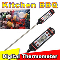 Wholesale 2016 new Safe Digital LCD Display Meat Thermometer Probe Kitchen Cooking Food Milk Barbecue BBQ Thermometer Temperature Meter
