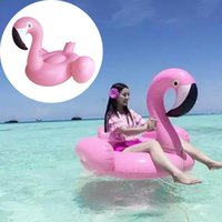 Wholesale PVC Summer Flamingo Pool Float Inflatable Swan Swimming Ring Bathing Beach