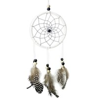 Wholesale Hot Sale Handmade Dreamcatcher Car Wall Wind Chimes Hanging Ornament by Guineafowl Feather Flocking Decoration Accessories