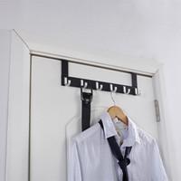 Wholesale 6 HOOKS OVER THE DOOR CLOTHES COAT DRESS HANGER STORAGE HOLDER WASHROOM BATHROOM RACK HIGH QUALITY