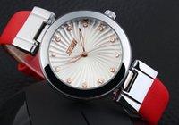 atm glass - Rhinestone fashion watch leather bracelet woman wristwatch lady diamond stone ATM waterproof quartz rose gold brand watch