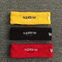 Wholesale 16 FW Sup Classic Logo fashion hair band headband turban headband recreational red black yellow scarf