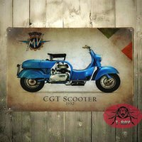 Wholesale Mv Agusta CGT Scooter Bike Motorcycle A4 Retro Metal Sign Aluminium C