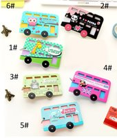 Wholesale PVC Cute Keychains Korea Card Case Holder Cartoon Metro ID Bus Identity Badge Porte Carte Vertical Credit Key Ring Holder ZA0071