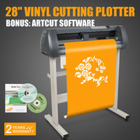 Wholesale 28 Inch VINYL SIGN CUTTING PLOTTER CUTTER Cutting Plotter W Artcut Software Contour Cutting New Model v Hot sales