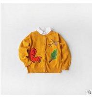 Wholesale Squirrel Baby Girls Cardigan New Autumn Cartoon Children Knit Sweater Fashion Mini Long Sleeve Kids Cardigans Tops Coat CX299