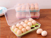 Wholesale Kitchen grid storage box to put the egg with the egg refrigerator crisper multilayer plastic box fitted eggs egg tray