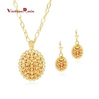 Wholesale WesternRain Gold Plated k New design jewelry Charming Romantic costume jewelry Necklace earring fashion Gold jewelry