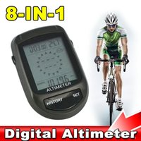 Wholesale Digital in1 LCD Backlight Bicycle Altimeter Compass Cycling Barometer Thermometer Temperature Weather Forecast Bike Holder