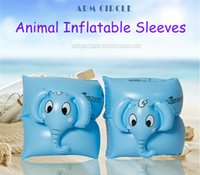 beginner swim - summer beach toys animal swimming arm rings with styles safety swim arm sleeves inflatable arm floats for children swimming beginners