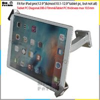asus tablet desktop - Universal tablet wall mounting holder anti theft desktop mount bracket lock holder display stand for iPad Samsung ASUS