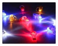 Wholesale DHL Manufacturers sale LED Finger Lamp LED Finger Ring Lights Glow Laser Finger Beams LED Flashing Ring Party Flash Kid Toys Colors