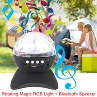 ball lighting video - Rotating Magic Ball speaker Light with Wireless Bluetooth Laser Rgb Full Color Disco Dance Party Video Lights Mini Laser Stage Lighting