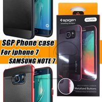 apple shells - For Iphone Case SGP Armor Hybrid Shockproof Shell For Samsung Galaxy Note On5 On7 Oneplus2 J710 K10 V10 With Retail Package