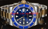 authentic autos - Factory Supplier Luxury Watches mm BLUE CERAMIC GOLD STEEL UNWORN AUTHENTIC Stainless Steel Bracelet MAN WATCH Wristwatch