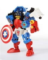 art actions - new Captain America Action Figure Building Blocks Toys Play Arts Kai Collection Model Anime Captain America Play diy Toy