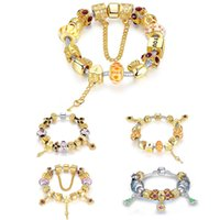beaded chamilia bracelet - Statement Chamilia Beads Bracelets Copper Alloy Rhinestones Double Layers Plating Silver Gold Colorful Strands Bead Jewelry Engagement