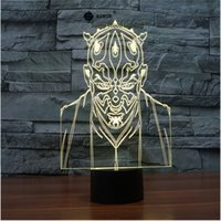 abs engraving - Darth Maul Star Wars switch LED D lamp Visual Illusion color changing V USB for laptop desk decoration toy lamp