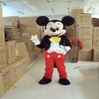 Traje de la mascota traje de la mascota de la venta directa de la mascota de Mickey Mouse Mickey de lujo del traje de Mickey Minnie para personas adultas