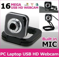 achat en gros de ordinateur portable-2015 Hot Sale Pixel USB 16.0 méga pixel caméra Web caméra WebCam HD avec MIC pour Skype MSN ordinateur portable PC