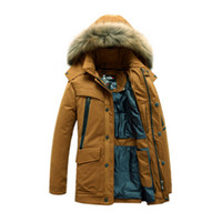 best mens parka - 2016 Fashion Men Down Jackets Winter Trendy Fur Collar Long Thick Warm Coats Mens Down Jacket With Hood Parka Best Quality