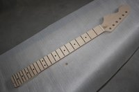 Wholesale DIY semi finished ST with the left hand guitar neck without paint Can the paint color