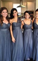 Wholesale Silver Bridesmaid China - 2016 long Tulle Bridesmaid Dresses Different Style China Convertible Multi Way Bridal Party Gowns for Weddings Guest Formal Wear 2017