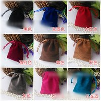 Wholesale OEM Gift Bag Colorful Velvet Draw String Bag Kids Gift Bag