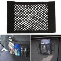 Wholesale Strong Magic Tape Car Seat Back Storage Mesh Net Bag cm x cm Luggage Holder Pocket Sticker Trunk Organizer EA10220