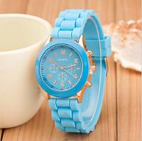 Cheap China luxury mens-watches women men geneva watch rubber candy jelly fashion unisex silicone quartz wrist watches for men women wristwatch 20