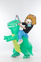 adult easy halloween costumes - SX0930 light and easy to wear inflatable green dinosaur mascot costume in green for adult to wear Halloween holiday