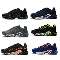 Wholesale The latest men s fashion running shoes TN sports shoes comfortable and breathable high quality Send Free