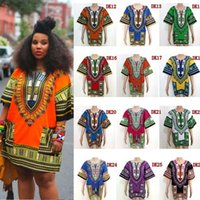 Wholesale 2016 cheap african dashiki dresses for women african shirts african print dress vintage ethnic clothing