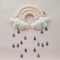 Wholesale Children tent accessories household decoration creative three dimensional cloud rain cloth art of a bed hangs scene props