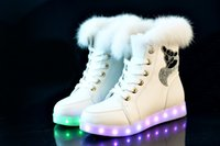 adult snow boots - new fashion Tomentellate fluorescent snow boots Led shoes for adults for man and women casual shoes USB led luminous shoes