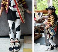 ad baby - 2016 spring kid s leggings clothes Fashion brand children girls letter printed cotton leggins baby kids AD leggings trousers girls pants