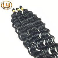 beautiful hair pieces - 7A Peruvian Hair Curly Human Hair Extension Brazilian Hair Bulk Deep Curly Wave Bulk Hair Unprocessed Human Hair Bulk Hair Beautiful Star