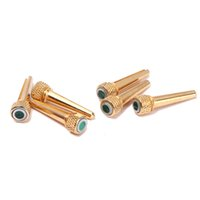 abalone bridge pins - 6pcs Abalone Dot and plastic dot Guitar Bridge End Pin Set For Acoustic Guitar