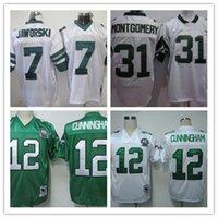 Wholesale 12 Randall Cunningham Throwback Football Jerseys Men s Ron Jaworski Wilbert Montgomery Sport Football Jersey