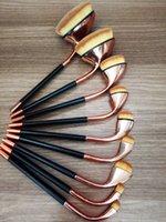 golf brush - Golf Make Up Brush Set Rose Gold Brush Set Professional Oval Toothbrush Concealer Makeup Brushes Powder Liquid Foundation Brush Gift Box