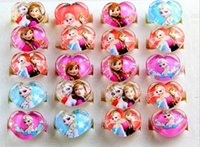 Wholesale new Frozen Anna Elsa Kids Cartoon mixed Heart Round Flower Finger Ring Children s Birthday Party Rings Xmas Gifts