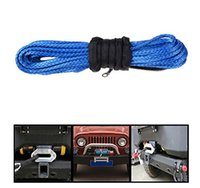 atv rope - mm x m Blue Synthetic Winch Line Cable Rope LBs with Sheath ATV UTV X4 WD OFFROAD