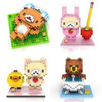 bears germany - Germany LOZ Diamond Building Blocks Brown Bear Assemble Model ABS Plastics cm High Educational Toy Gift