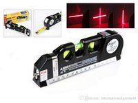 Wholesale laser level wire Infrared Cross Line Laser Level Tape Measure meter aluminum seat