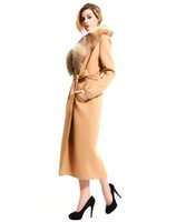 Wholesale 2016 Autumn Hot Sale New Women s Clothing Outerwear Coats Wool Blends Khaki Sale In the Long Section Temperament Wool Coat