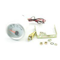 Wholesale 52mm Silver shell Blue word car Refit oil temperature meter blue backlight Oil temp gauge